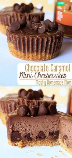 Chocolate Caramel Mini Cheesecakes by crystalc