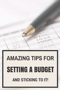 Tips for setting and successfully living on a tight budget!
