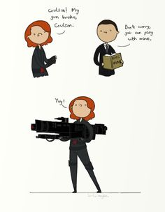 .My gun broke, Coulson. by bababug on deviantART