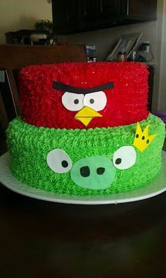 Angry birds cake - Click image to find more hot Pinterest pins