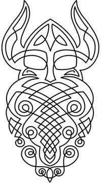 The celtic viking. This would be very cool as a cable pattern on a sweater...