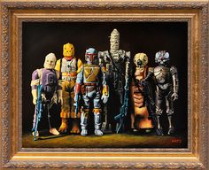Bounty Hunters - Vintage Star Wars figure Oil Painting by Mats Gunnarsson Theme Star Wars, Star Wars Art, Star Trek, Star Wars Figurines, Star Wars Toys, Amour Star Wars, Jouet Star Wars, Star Wars Bounty Hunter, Grandeur Nature