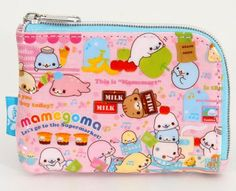 pink Mamegoma coin purse wallet baby seals San-X