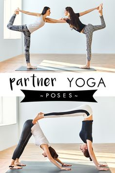 Mix it up with some double trouble yoga fun! | Yogamoo #partneryoga #acroyoga #fun #goals #practice
