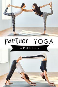 Mix it up with some double trouble yoga fun! | Yogamoo #partneryoga #acroyoga #fun #goals #practice