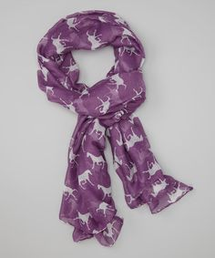 Take a look at this Purple Horses Scarf by Bubbly Bows on #zulily today!
