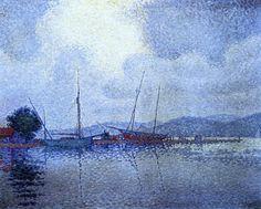 Paul Signac ~ Saint-Tropez, After the Storm, 1895
