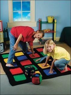 Uhm ja... als ik een keer heeeeeel veel tijd over heb ;-) #Crochet ~ Twister Game