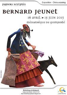 Médiathèque de Quimperlé: Une Bretagne de papier : papiers sculptés de Bernard Jeunet