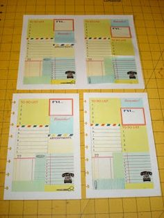 A Creative Operation: Another Sticky Note Page.  Great idea to make planner pages out of copies sticky notes or PL cards or the like.
