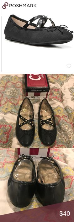 Brand New Sam Edelman Cayenne Black Flats Brand New Cayenne Flats from Circus by Sam Edelman! Fabric upper- Strap and stud detail-Slip on style-  Closed toe- Closed heel! Size 8 Original Box Included!        💕💕Open to Reasonable Offers💕💕            🛍 Bundles of 2+ Are 15% Off🛍             🚭🚭Smoke Free Home!! 🚭🚭                📦📦FAST Shipping!! 📦📦 Circus by Sam Edelman Shoes Flats & Loafers