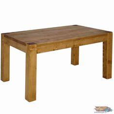 TABLE Contemporaine Rectangulaire en Bois Massif:120 cm|meublespin.fr Solid Wood, Furniture