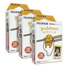 3-paquetes-de-30-fotos-hojas-Sanrio-gudetama-Fujifilm-Fuji-Instax-Mini-Pelicula-SP-1