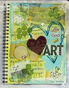 Triple the Scraps: Art {Journaling} Recreating a Page