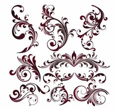 Vector Graphics | Vector Floral Design Elements | Free Vector Graphicsy | All Free Web ...
