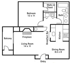Image result for 1 bedroom 700 sq ft house plans | apartment ...