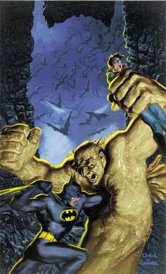 Batman vs Clayface by Glen Orbik