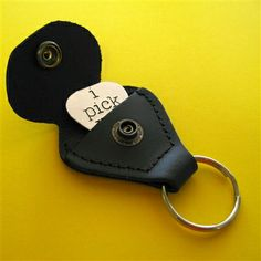 Guitar Pick Holder Key Chain - Spiffing Jewelry