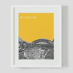 Milwaukee Stadium Print, $17, now featured on Fab.