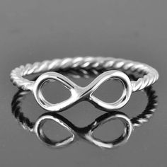 infinity ring, infinity knot ring, sterling silver ring, best friend ring, promise ring,personalized ring, sisters ring