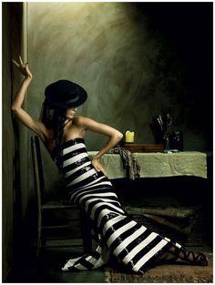 Julia Stegner | Alexi Lubomirski #photography | Vogue Germany December 2008