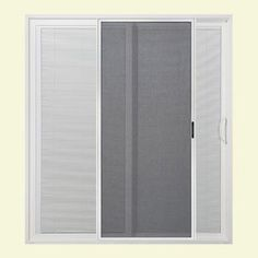 ... Atlantic Sliding Patio Door With Tilt And Raise Mini Blinds Horizontal  Sliding Design Mini Blinds Are Placed Between Glass Panes From The Home  Depot
