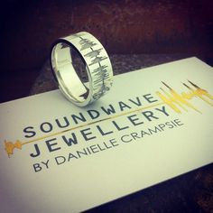 Did you know #soundwaves are similar to #fingerprints?  They are both self identifying marks #unique to you.  #Record your #personal #history  #Create a #Custom #SoundwaveRing  #Express your uniqueness  #soundwavejewellery #mensjewelry #ring #art #design #made #ido #weddingring #mensweddingring #weddingvows #soundwaves #mensjewelry