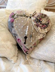Купить Подушка-сердце Романтика - бледно-розовый, подушка, подушка в подарок, подушка сердце, сердце