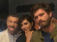 Kivanc Tatlitug with Tuba Buyukustun in Cesur ve Guzel a Turkish TV series 2016-2017.