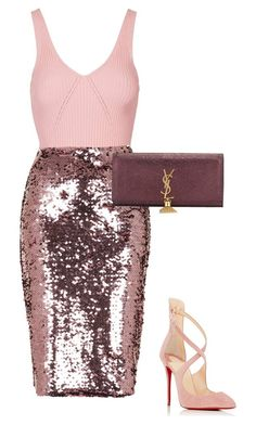 Untitled #13792 by bappple on Polyvore featuring polyvore fashion style Topshop Christian Louboutin Yves Saint Laurent clothing