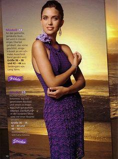 Crochetemoda: Vestido Roxo de Crochet