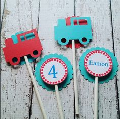 ::Description::  These train cupcake toppers are perfect for your little ones train themed birthday celebration! They are made with 65lb card stock