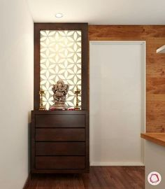 20 best Mandir design ideas in Indian contemporary house Pooja rooms or mandir o. Pooja Room Door Design, Bedroom Door Design, Bedroom Doors, Foyer Design, Bedroom Curtains, Gate Design, Interior Design Living Room, Living Room Designs, Living Rooms