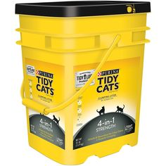 Purina Tidy Cats Clumping Litter 4-in-1 Strength for Multiple Cats 35 lb. Pail *** Click image for more details. (This is an affiliate link) #Catlitterandhousebreaking
