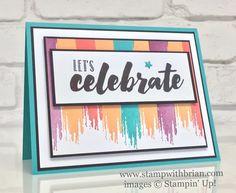Happy Celebrations, Stampin' Up!, Brian King, celebration card, FabFri106