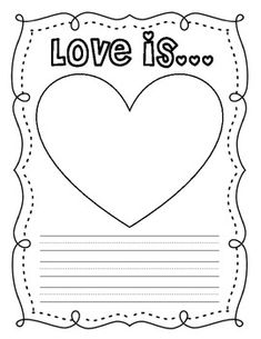a Class Book {FREE Printables} love is. a class book {free printables} - A Cupcake for the Teacher - love is. a class book {free printables} - A Cupcake for the Teacher - Valentine Theme, Valentine Day Crafts, Valentine Ideas, Kindergarten Writing, Writing Activities, Literacy, Valentines Day Activities, Holiday Activities, First Grade Writing
