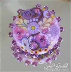 1 handmade lampwork bead focal -- SRA -- glass -- Silke Buechler -- Calypsos Beads -- S c e n t   O f   S p r i n g. $44,00, via Etsy.