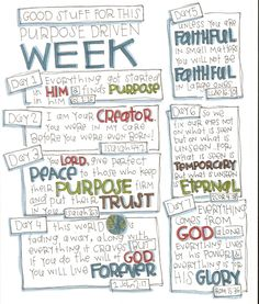 Journaling goals or journaling scripture or journaling ?? ... preview your week for anything.