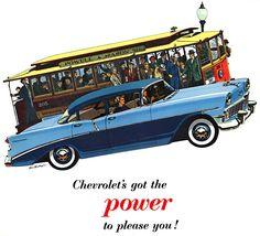 Plan59 :: Classic Car Art :: 1956 Chevrolet