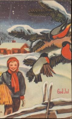 Bilderesultat for cranner Christmas Cards, Christmas Postcards, Vintage Postcards, Norway, Auction, Manga, Poster, Painting, Animals