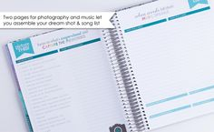 We've included two pages to help you plan out photos & music, two very important elements of your #wedding!  #ECWeddingPlanner #ErinCondren