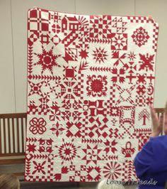 Red & white sampler quilt