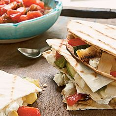 Grilled Pepper-and-Squash Quesadillas.  I put this into some empanadas, and they are delicious!