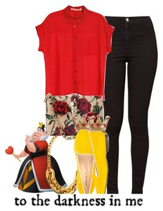 """""""Hollie hearts, Queen of hearts daughter...."""" by alondrauribe ❤ liked on Polyvore featuring Juicy Couture, American Apparel, MANGO, Dolce&Gabbana, Disney Couture and Alberto Moretti"""