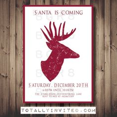 Santa is Coming Game of Thrones Christmas Party invitation PRINTABLE, DIY, (customized) unique, geek, invite Geeky fandom holiday funny