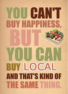 Get happy food from happy people - Support your local farmer's markets and small shops. Oh, and eat paleo - it's a recipe for happiness in itself!