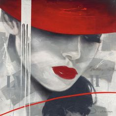 Kunst Bilder ideen - Jochem+-+Glamorous+I Splash Art, Red Hats, Female Art, Framed Artwork, Find Art, Art Decor, Art Photography, Street Art, Abstract Landscape