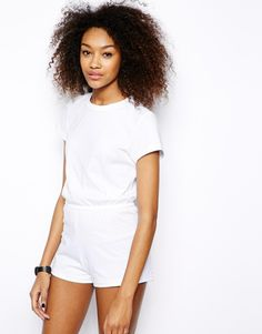 American Apparel Jersey Playsuit