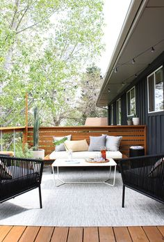 A Modern Outdoor Makeover on a Budget