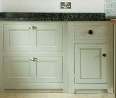 Modular inset cabinets by deVol Kitchens in the UK.